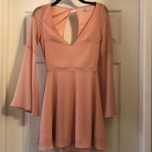 Xtra Small Light Pink Keyhole back dress